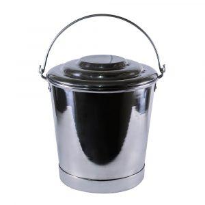 royal balde aluminio con tapa